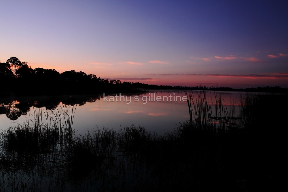 sunrise at the lake by kathy s gillentine