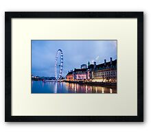 In The Twinkling of an Eye: London Eye Framed Print