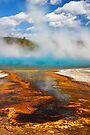Biscuit Basin. Sapphire Pool. Yellowstone National Park. Wyoming. USA. by PhotosEcosse