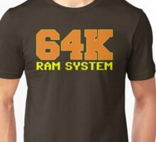 Commodore 64k RAM System Unisex T-Shirt