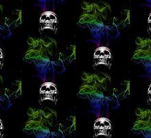 Smoke skull  by Waleart