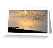 Country Silhouettes Greeting Card