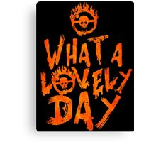 What a Lovely Day - Warrior Canvas Print