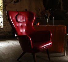 Red Chair by Ritva Ikonen