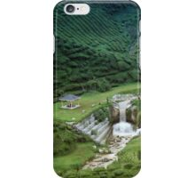 Man made waterfall in exotic tea plantation iPhone Case/Skin