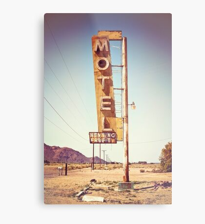 Motel Sign on the Route 66 Metal Print