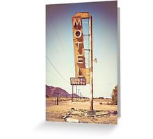 Motel Sign on the Route 66 Greeting Card
