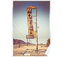 Motel Sign on the Route 66 Poster