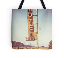 Motel Sign on the Route 66 Tote Bag