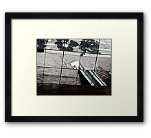 Abstract Escalator Framed Print