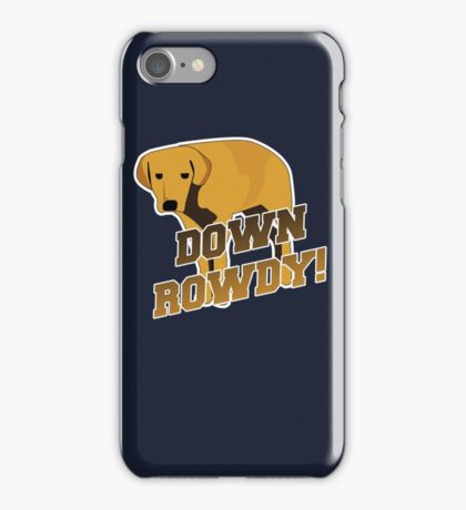 Down Rowdy the Dog iPhone Case/Skin