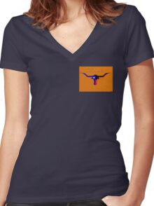 Texas Longhorn Women's Fitted V-Neck T-Shirt