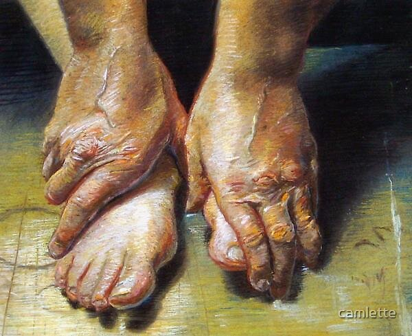 Old Hands and Tired Feet by Cameron Hampton