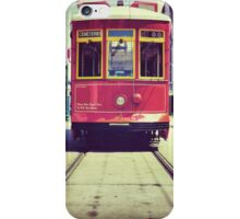 Red Street Car in New Orleans iPhone Case/Skin