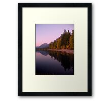 Lake MacDonald - Glacier National Park Framed Print