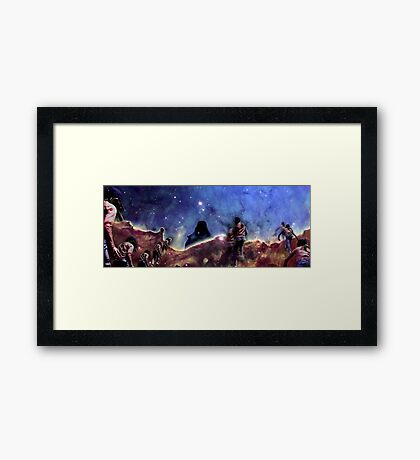 Emily's Ridge Walk Framed Print