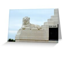 Guardian of the Cenotaph Greeting Card