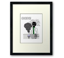 When science goes wrong Framed Print