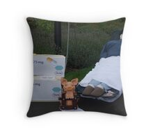 Swine Flu Throw Pillow