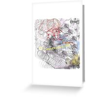 spaceman-touch the future Greeting Card