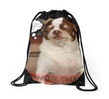 Stop Animal Cruelty Drawstring Bag