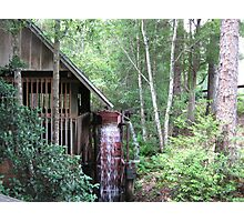 Water wheel grist mill  Photographic Print