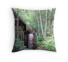 Water wheel grist mill  Throw Pillow