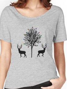 Christmas Stag T-Shirt Women's Relaxed Fit T-Shirt