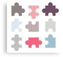 Puzzle Piece Canvas Print