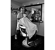 Barber and the Boy Photographic Print