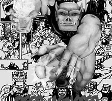 Rubbernorc Beer Monster Comic Collage by kerchow