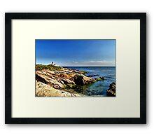 Beavertail Lighthouse, Jamestown, Rhode Island Framed Print