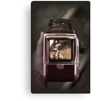retro film camera Canvas Print