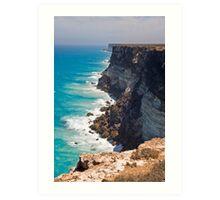 Great Australian Bight - Cliffs on the Nullabor - South Australia Art Print