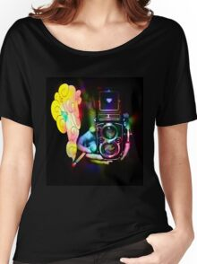 psychedelic vintage film camera Women's Relaxed Fit T-Shirt