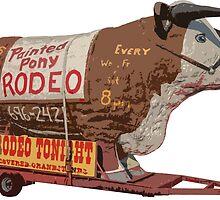 Texas Long Horn Steer Roadside Attraction by Edward Fielding