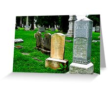 Grave Array Greeting Card