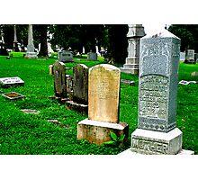 Grave Array Photographic Print