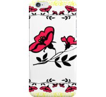 Poppy design (Drawing) iPhone Case/Skin