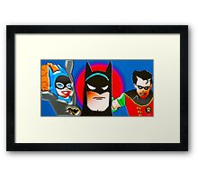 calling all superheroes Framed Print