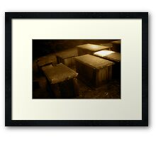 Crypt Row Framed Print