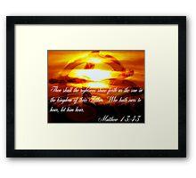 Matthew 13:43 Framed Print