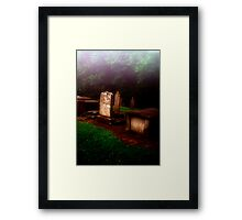Headstones in the MIst Framed Print