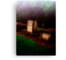Headstones in the MIst Canvas Print
