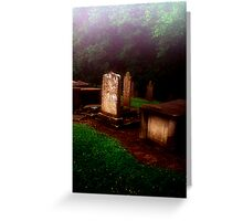 Headstones in the MIst Greeting Card