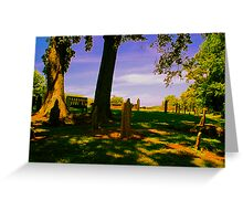 Headstones on a Hill Greeting Card