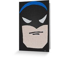a very yound Batman Greeting Card