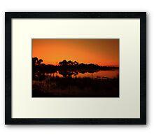 Webb lake Framed Print