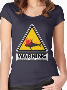 Sharks with Frikkin Laser Beams Women's Fitted Scoop T-Shirt