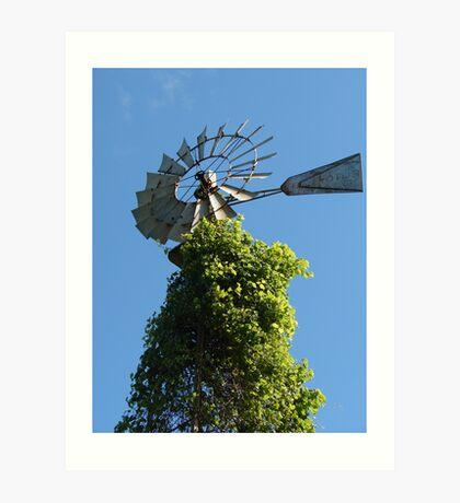 Bly Sky Windmill Art Print